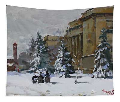 April Snow By The Nacc Tapestry