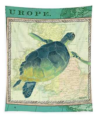 Aqua Maritime Sea Turtle Tapestry