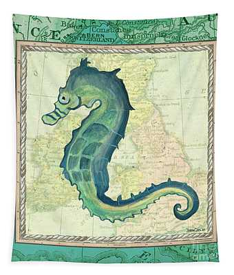 Aqua Maritime Seahorse Tapestry