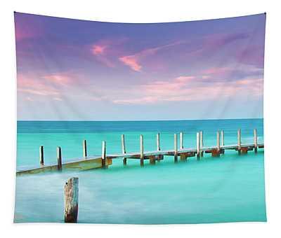Aqua Waters  Tapestry