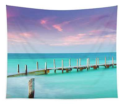 Aqua Waters  Tapestry