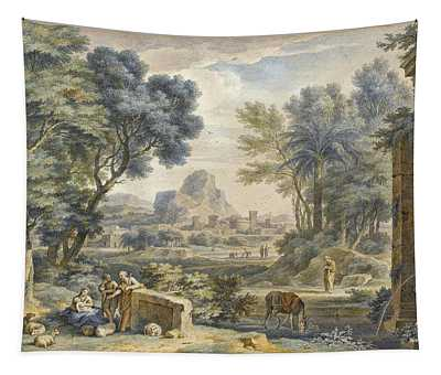 Arcadian Landscape With The Rest On The Flight Into Egypt Tapestry