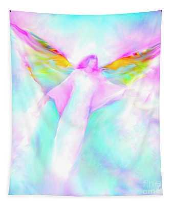 Archangel Gabriel In Flight Tapestry