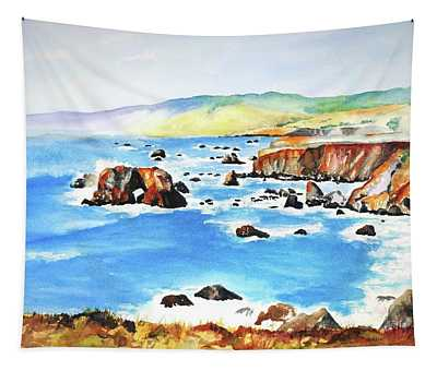 Arched Rock Sonoma Coast California Tapestry
