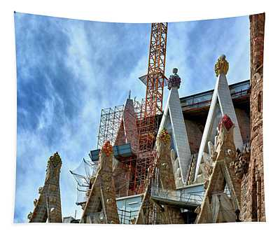 Architectural Details Of The Sagrada Familia Tapestry