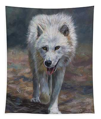 Arctic Wolf Tapestry