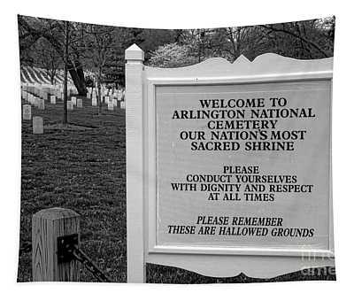 Arlington Cemetery Sign Tapestry