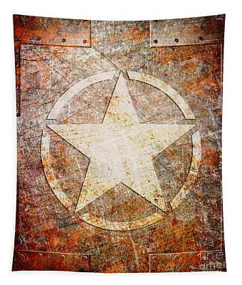 Army Star On Rust Tapestry