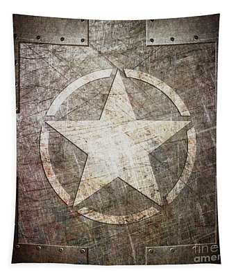 Army Star On Steel Tapestry