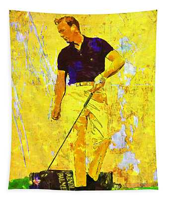 Arnold Palmer Legend In Yellow Tapestry