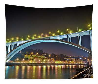 Arrabida Bridge - Porto City - Portugal Tapestry