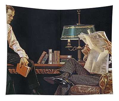 Arrow Shirt Collar Ad, 1914 Tapestry
