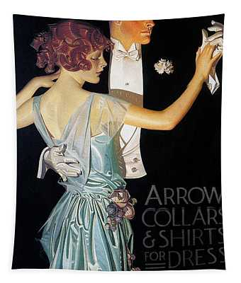 Tapestry featuring the photograph Arrow Shirt Collar Ad, 1923 by Granger