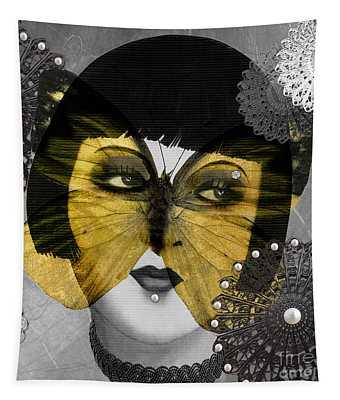 Art Deco Butterfly Woman Tapestry