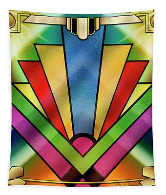 Art Deco Chevron 4 Tapestry
