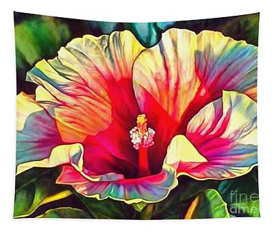 Art Floral Interior Design On Canvas Tapestry