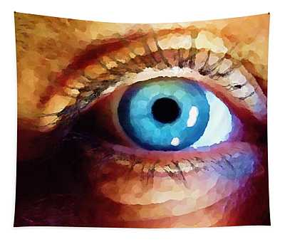 Tapestry featuring the digital art Artist Eye View by Shelli Fitzpatrick