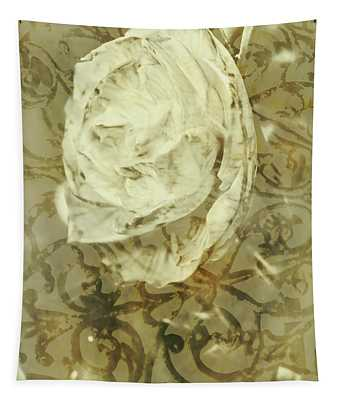 Artistic Vintage Floral Art With Double Overlay Tapestry
