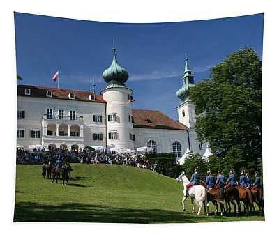 Tapestry featuring the photograph Artstetten Castle In June by Travel Pics
