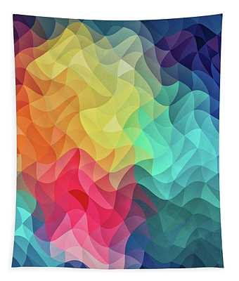 Abstract Color Wave Flash Tapestry