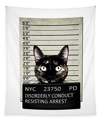 Kitty Mugshot Tapestry