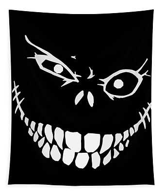 Crazy Monster Grin Tapestry