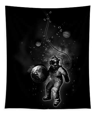 Deep Sea Space Diver Tapestry