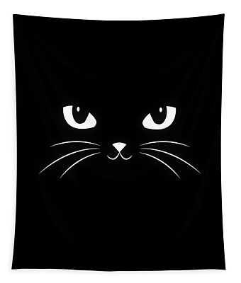 Cute Black Cat Tapestry