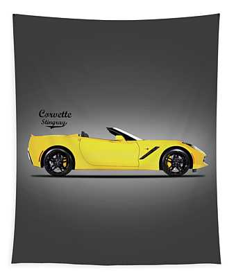 Corvette In Yellow Tapestry
