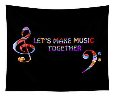 Let's Make Music Together Tapestry