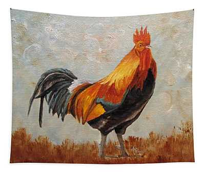 Red Rooster Tapestry