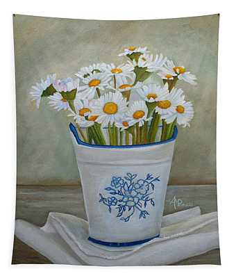 Daisies And Porcelain Tapestry
