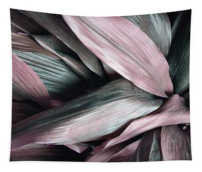 Leaves In Pink And Blue Shades Tapestry
