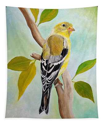 Pretty American Goldfinch Tapestry