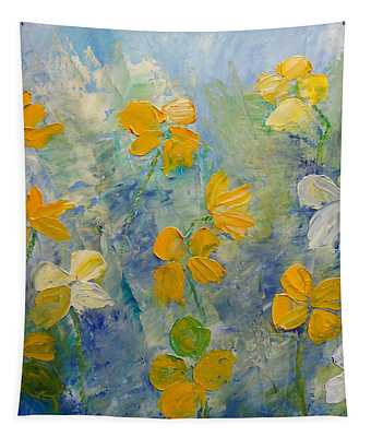 Blossoms In Breeze Tapestry