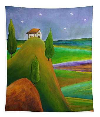 Starry Summer Night Tapestry