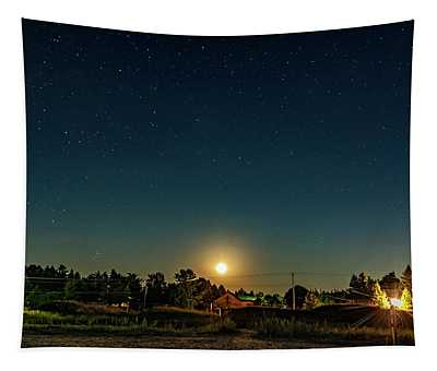 As August Ends - Moonrise  Tapestry