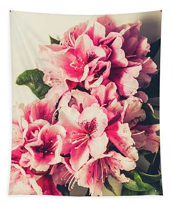 Asian Floral Rhododendron Flowers Tapestry