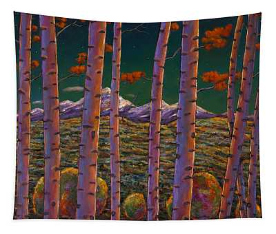 Aspen At Night Tapestry