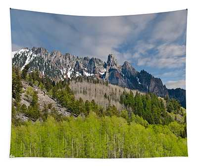 Aspen Grove Below The Ophir Needles Tapestry