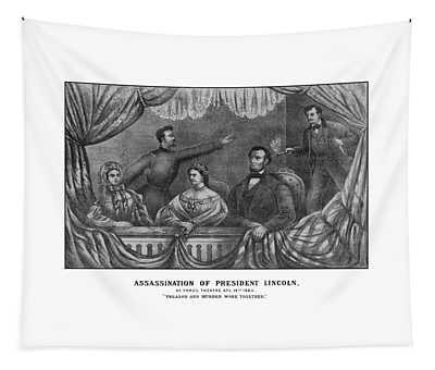 Assassination Of President Lincoln Tapestry