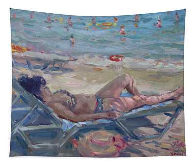 At Dilesi Beach Athens Tapestry