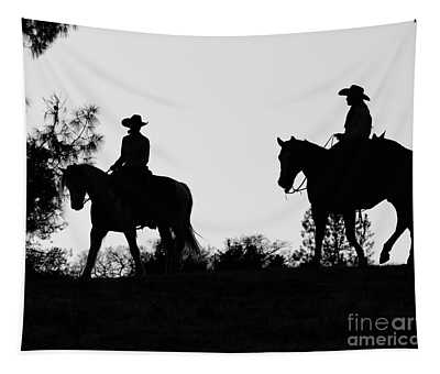 At Sunset On The Ranch Tapestry