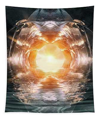 At The End Of The Tunnel Tapestry