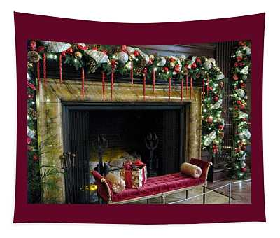 At The Hearth Of Christmas Tapestry