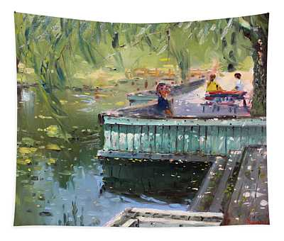 At The Park By The Water Tapestry