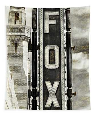 Atlanta - Fox Theatre Sign #8 Tapestry