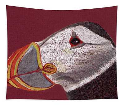 Atlantic Puffin Profile Tapestry