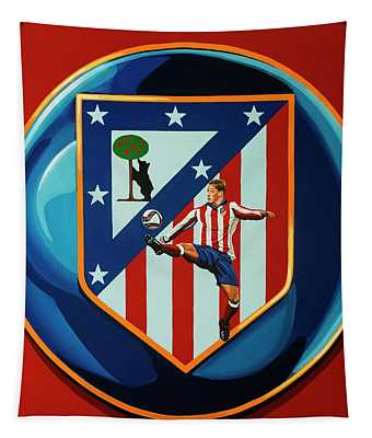 Atletico Madrid Painting Tapestry