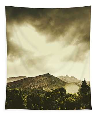 Atmospheric Hills And Valleys Tapestry